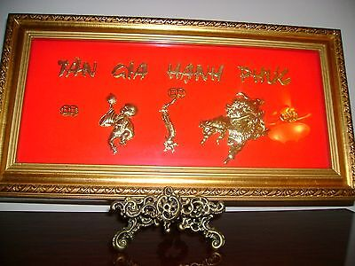 24K Gold Happiness Picture for Home Decoration