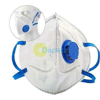 SAFETY FACE MASK FFP2 VALVED SAFETY DUST PAINT LIQUID x 1