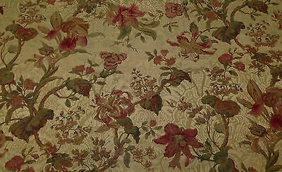 Covington La Boheme Dark Beige Embossed Fl Designer Fabric By The Yard 54 W