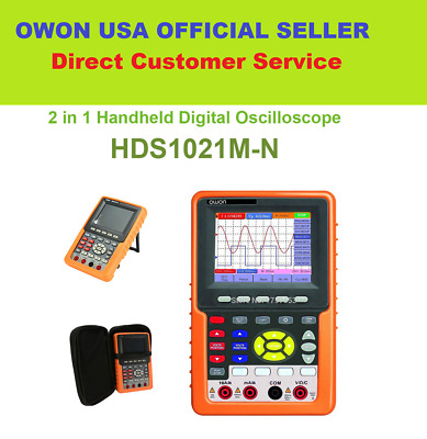 Handheld OWON HDS1021M-N Digital Oscilloscope FFT Waveform Record & Replay SCPI