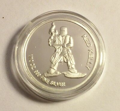 "New 2014 Certified ""NED KELLY"" 1/10th OZ 999.0 Pure Silver Proof Coin (b)"