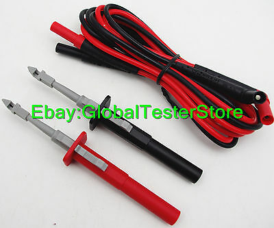 insulation piercing alligator Probes clip + fluke TL224 test leads red/black
