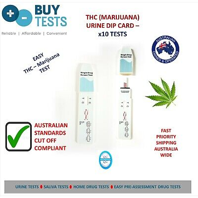 10 X Urine THC Drug test kits. Easy home drug test kit (dip card) for Marijuana