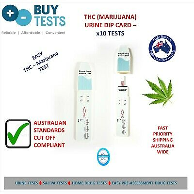 URINE Drug test-Marijuana/THC (10 pack) Easy home Drug Test kit to Aust Standard
