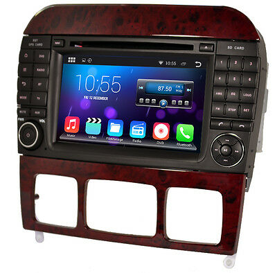 android 4.4 Car DVD for Mercedes Benz S-Class W220 CL-W215 with Capacitive touch