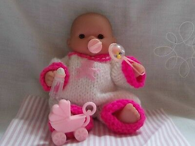 5 inch Berenguer  Girl Doll Clothes For Miniature Reborn Doll