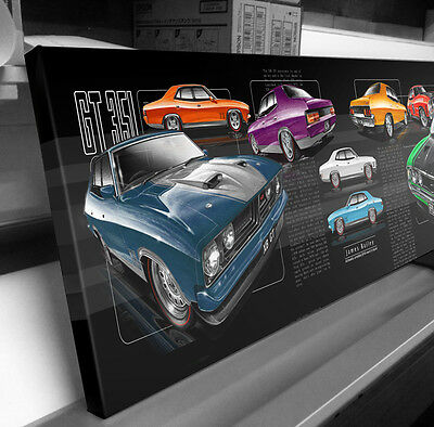 Ford Xa Xb Falcon Gt  Stretched Canvas Compilation  Stomp Impressions Art
