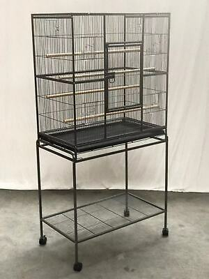 140 cm Large Bird Cage Parrot Aviary Pet Stand-alone Budgie Perch Castor Wheels