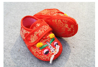 Chinese Foo Dog Baby Boy Girl Infant Shoes Handmade sewn NEW Random Color Pick
