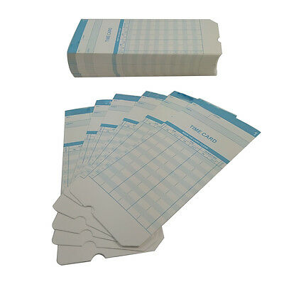 New 100 pc Monthly Time Clock Cards For Attendance Payroll Recorder Timecards