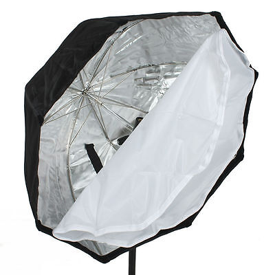 80CM Studio Octagon Softbox Honeycomb for portable Speedlights hot shoes