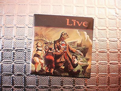 Live button square pinback badge pin Official 1995 Brockum