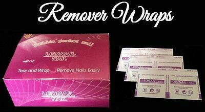 50 100 150 200pcs Gel Polish Remover Wraps Pads Foil w/ Acetone Nail Art *UK*