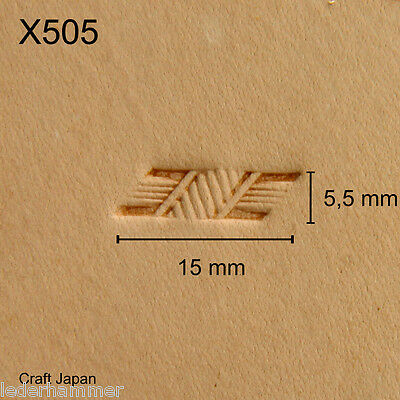 Punziereisen, Lederstempel, Punzierstempel, Leather Stamp, X505 - Craft Japan
