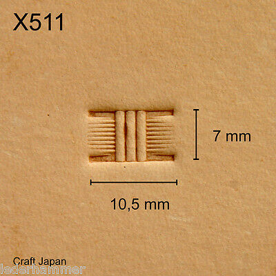Punziereisen, Lederstempel, Punzierstempel, Leather Stamp, X511 - Craft Japan
