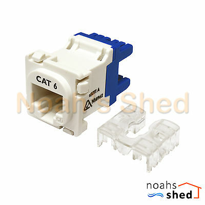 100 x CAT6 RJ45 8P8C Network LAN Data Jack Mech Insert Socket Clipsal Style WHT
