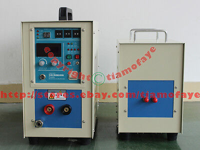 15KW 30-100KHz Dual Station HIGH Frequency Induction Heater  Melting Furnace