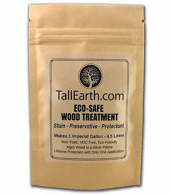 ECO-SAFE Wood Treatment TALL EARTH - LIFETIME Stain & Preservative 1/3/5 Gallon