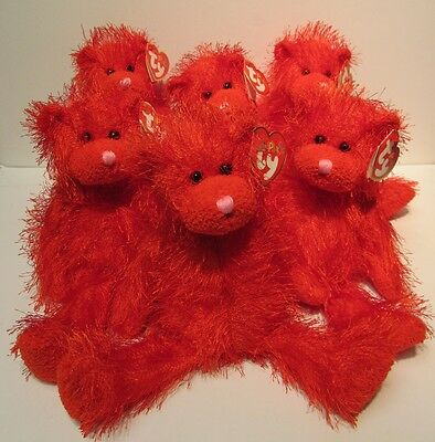 """TY Punkies """"Sizzles"""" the Red Hot Bear - Brand New w/Mint Tags"""