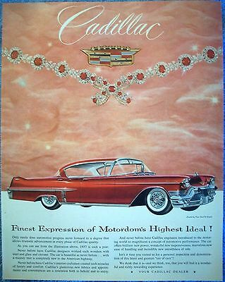 1957 Cadillac Red Rubies Diamond Necklace Van Cleef & Arpels Jewels ad