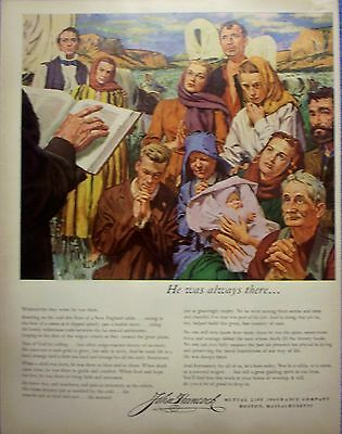 1954 John Hancock Insurance Man Of God Always There Frontier Wagons Briggs ad