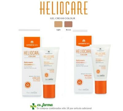 Heliocare Spf 50 Gel Crema Color 50 Ml  Light Brown Gelcream Spf50