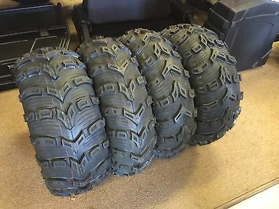 KENDA BEAR CLAW EVO 25X8-12 &  25X10-12 (2 of each) SET OF FOUR ATV TIRES 6 PLY