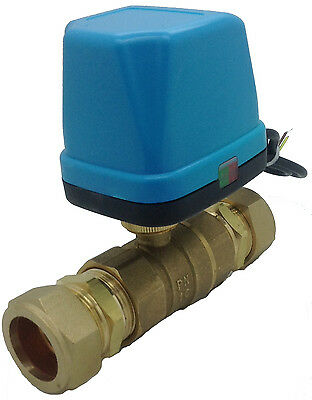 Procus 2 Port Motorised Zone Valve Ball Valve c/w 28mm Compression Fittings
