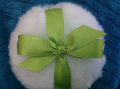Lime Green Bow, Luxurious Body powder puff, super soft, 4 inch body powder puff
