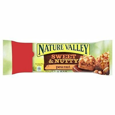 New Nature Valley 'Sweet & Nutty' Peanut Granola Bars 1-Bar Packs 30g each