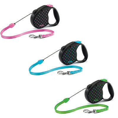 Flexi Color Dots Cordon M (5m) Correa extensible para perro