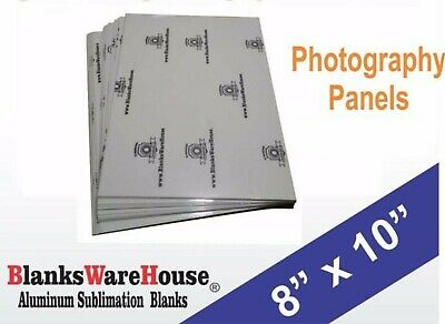 "8"" x 10"" PHOTO SHEET -Aluminum Sublimation Blanks, white, square corners- 20 Pcs"