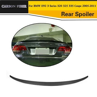 Carbon Fiber Rear Trunk Spoiler P Style Lid Wing fit for BMW E92 M3 Coupe 07-13