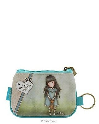 Reduced Gorjuss Zip Purse Forget Me Not By Santoro London