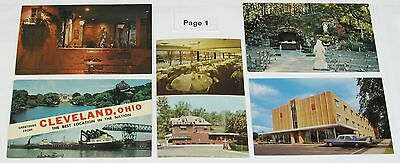 1940's 1950's 1960's 1970's Vintage CLEVELAND, Ohio Postcard Lot ~ 32 Postcards
