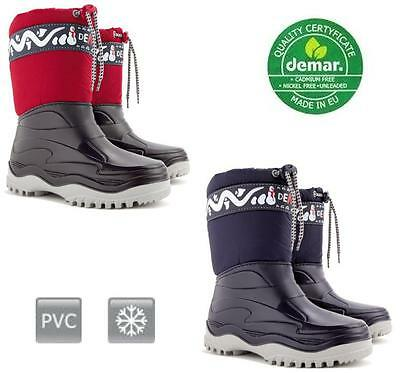Winter Kids Boots Welly Snow Wellington With Easy Fastening Wool - Uk Size