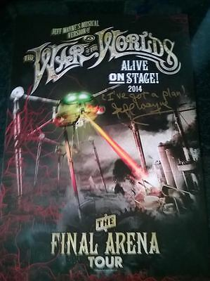 Jeff Wayne's War Of The Worlds 2014 Tour Lithograph 2- Signed & Messaged By Jeff