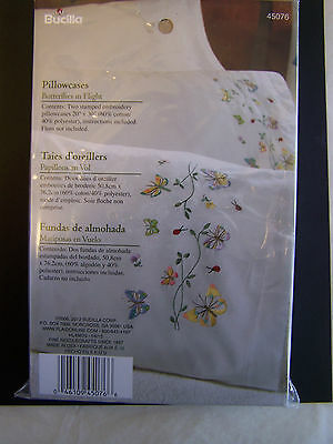"Stamped Embroidery Pillowcase Pair 20""X30"" choice/design"
