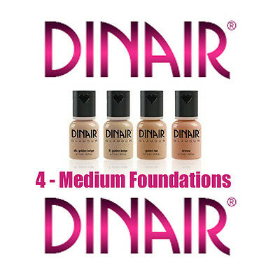 DINAIR AIRBRUSH MAKEUP-  LIMITED TIME - MEDIUM  GLAMOUR  FOUNDATION COLLECTION