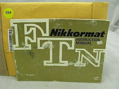 Nikon Nikkormat FTN Original Instruction Manual ID #594