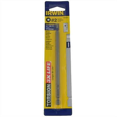 Qty 2 Square Torsion Power #2 No.2 x 152mm Screwdriver Drive Bit Irwin