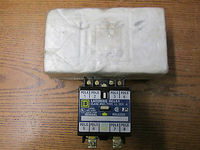 NEW NOS Square D 8501-LO-80-LL A/C Magnetic Latching Relay 110/120VAC 50/60Hz