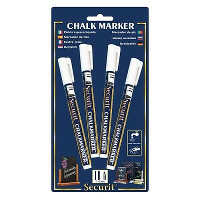 Securit Wipe Clean White Marker Pens Wall Menu Boards Pack Of 4 Restaurant Cafe