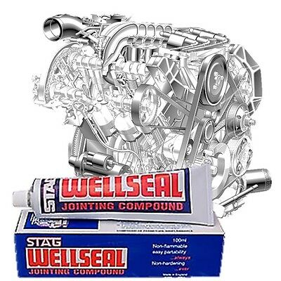 Classic Car Stag Wellseal 100ml Head Gasket Engine Block Cylinder Shim Sealant