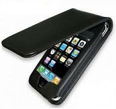 Black Luxury PU Leather Flip Case Cover for iPod Touch iTouch 4 4G 4Gen