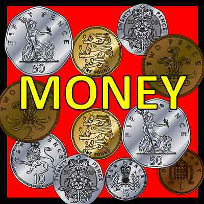 MONEY teaching resources on CD- Maths, Numeracy, KS1, EYFS, SEN, Primary, coins