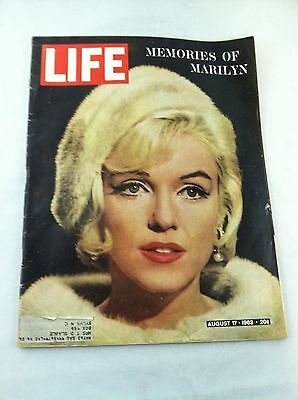 1962 August 17 LIFE Magazine MARILYN MONROE Vintage Marilyn Photos and Ads