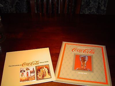Lot of 2 different The Chronicle of Coca Cola Since 1886 COKE BOOK Look