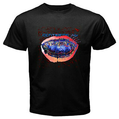 New Animal Collective Centipede Hz Rock Band Logo Men's Black T-Shirt Size S-3XL