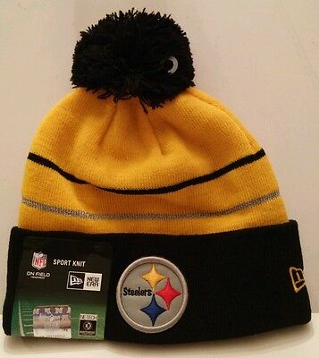 4635012d2a7 NFL Pittsburgh Steelers New Era Knit Hat On Field Thanksgiving Beanie w   Pom NWT